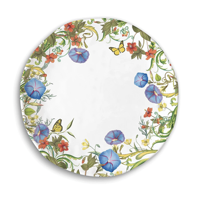 Michel Design Works Summer Days Melamine 11-inch Round Platter / Plate