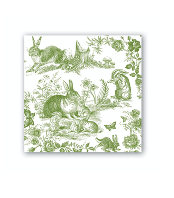 Michel Design Works Bunny Toile Cocktail Napkins
