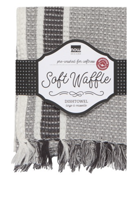 now designs Soft Waffle Black Kitchen Towel