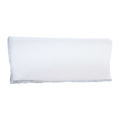 Metallic Trimmed Linen Napkin (White/Silver), Set of 4