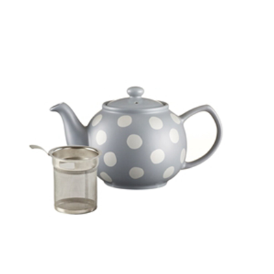 Price Kensington Silver Polka Dot 6 Cup Teapot with Filter