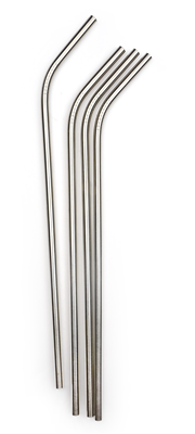 RSVP Endurance Stainless Steel 10-1/2? Drink Straws – Set of 4
