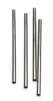 "RSVP Endurance Stainless Steel 5"" Short Straws - Pack of 4"