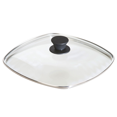 Lodge Square Glass Cover Lid - 10.5""