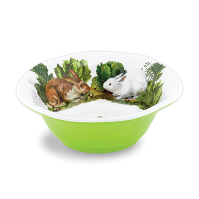 Michel Design Works Medium Melamine Serving Bowl - Garden Bunny
