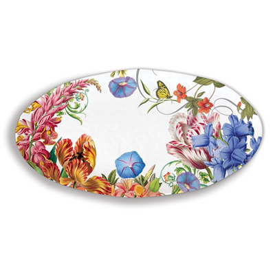 Michel Design Works Summer Days Melamine Oval Serving Platter