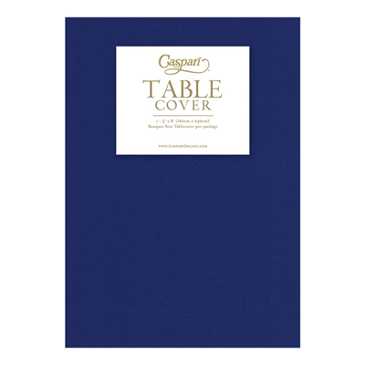 Caspari Paper Linen Solid Table Cover - Navy Blue