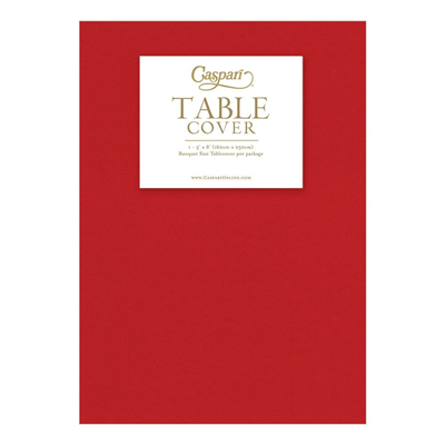 Caspari Paper Linen Solid Table Cover - Red