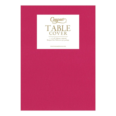 Caspari Paper Linen Solid Table Cover - Fuchsia