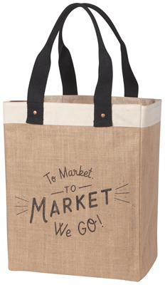 To Market We Go Tote Bag