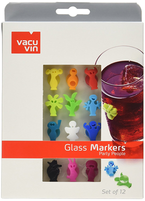 Vacu Vin Party People Wine Charms Set of 12