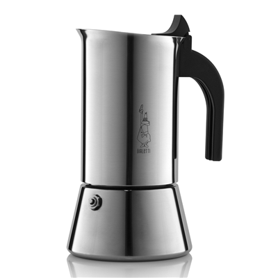 Bialetti Venus 6 Cup Stainless Steel Stove Top Coffee Maker - Induction