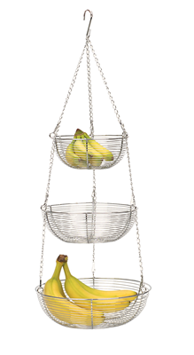 RSVP 3 Tier Hanging Basket - Chrome