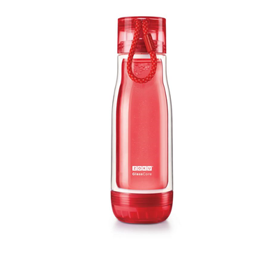 Zoku Everyday Glass Core Bottle 16oz - Red