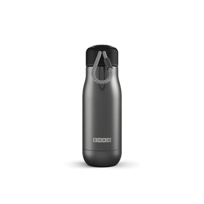 Zoku Stainless Steel 12 oz Insulated Bottle - Gunmetal